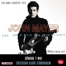 John Mayer tickets at ERICSSON GLOBE/Stockholm Live in Stockholm