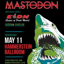 Mastodon tickets at Hammerstein Ballroom in New York City