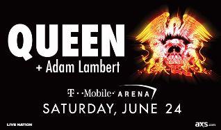 Queen + Adam Lambert tickets at T-Mobile Arena in Las Vegas