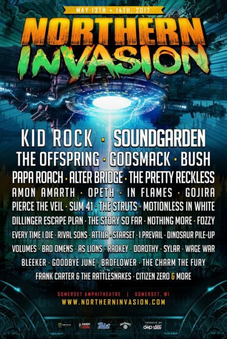 Northern Invasion 2017 lineup promotional art