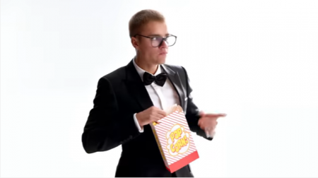 Justin Bieber in a Super Bowl spot for T-Mobile
