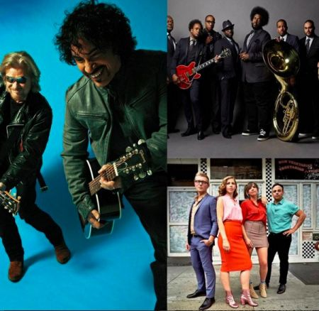 Daryl Hall & John Oates, The Roots, and Lake Street Dive added to JAS Labor Day Experience lineup.