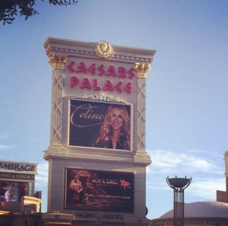 Celine Dion photobombs a marriage proposal at The Colosseum at Caesars Palace