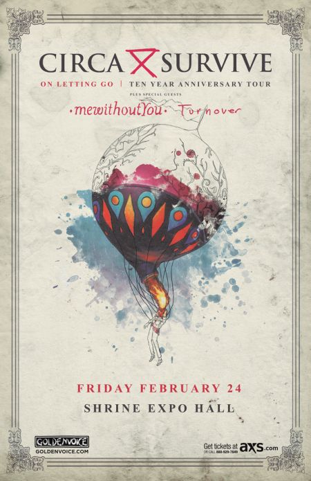 Enter for a chance to win a pair of tickets to Circa Survive at The Shrine in LA
