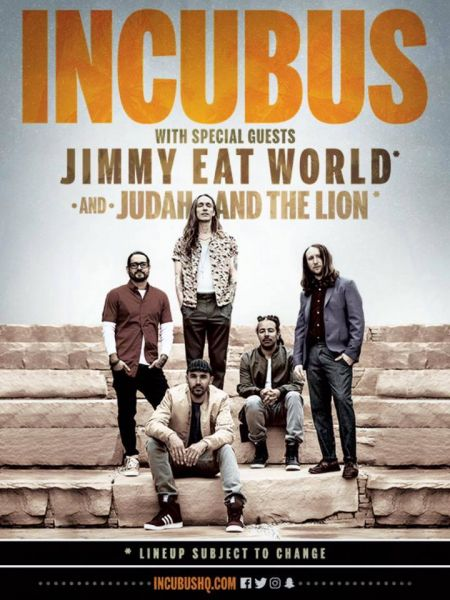 Incubus and Jimmy Eat World are hitting the road this summer and Red Rocks in the fall.