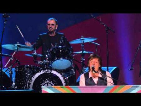 Paul McCartney joins Ringo Starr in the recording studio