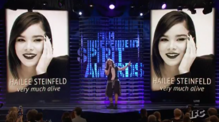 Comedian Andy Samberg pays respect to the celebrities who are still living at the Spirit Awards on Friday night.