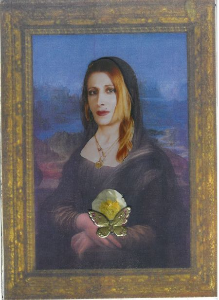 Director and playwright Lisa Moira channeling the Mona Lisa.