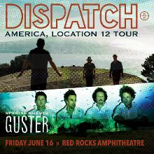 Dispatch tickets at Red Rocks Amphitheatre in Morrison