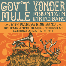 Gov't Mule & Yonder Mountain String Band tickets at Red Rocks Amphitheatre in Morrison