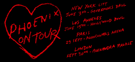 French rock group Phoenix continue to slowly reveal their 2017 touring plans