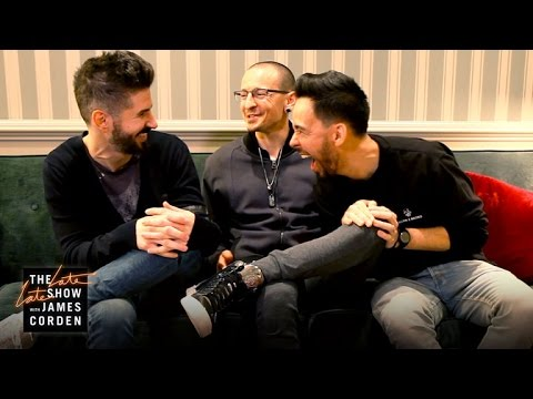 Linkin Park play 'The Bandmate Game' on 'The Late Late Show'