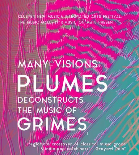 13 songs from Grimes' Visions LP will be re-worked as classical music and performed across Canada by Plumes Ensemble throughout March.