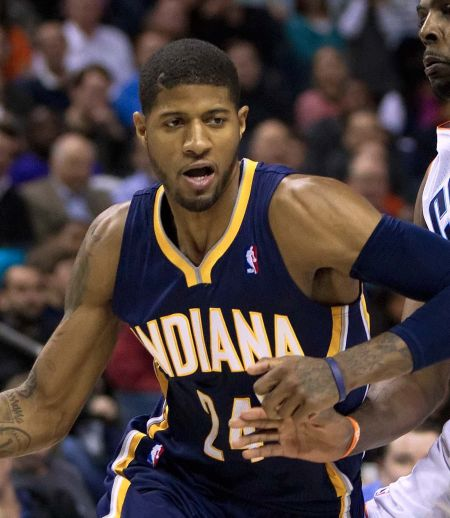 Indiana Pacers president, Larry Bird, claims he didn't discuss a potential Paul George trade with Magic Johnson of the Los Angeles Lakers.