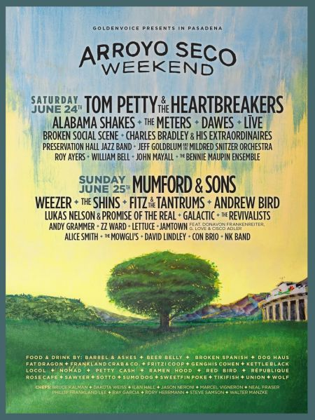 Arroyo Seco Weekend will take place June 24 & 25 in Pasadena, CA.