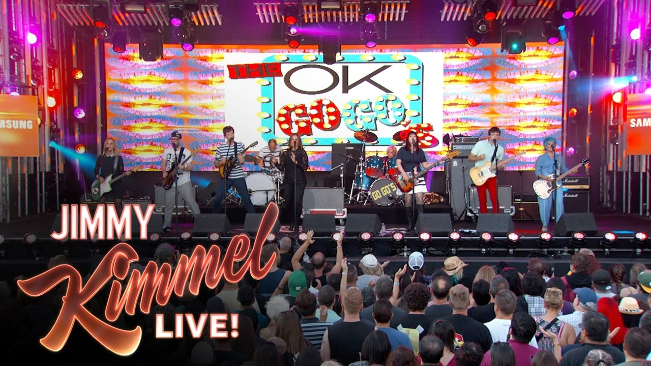 OK Go join The Go-Go's to make 'The OK Go-Go's' on 'Jimmy Kimmel Live'