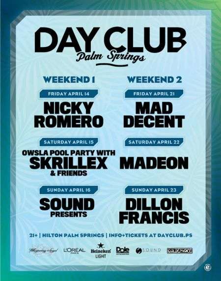 Lineup for Day Club Palm Springs 2017