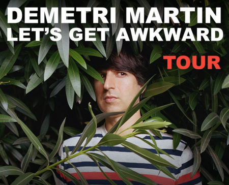 Demetri Martin will embark on his Let's Get Awkward tour this summer