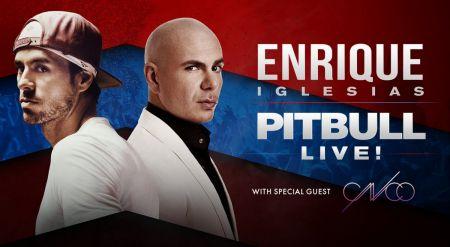 Enrique Iglesias and Pitbull will stop at Atlanta's Infinite Energy Arena on Sunday, June 25