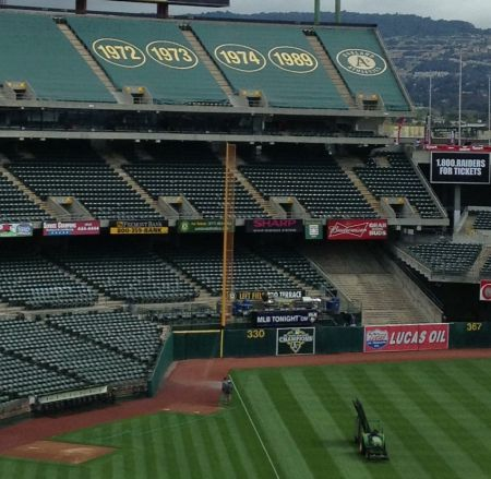 The Oakland A's have won four World Series titles in the East Bay, and as the team prepares for its 50th season here, the Coliseum proudly d
