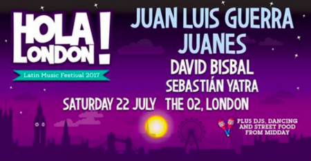 The O2 in London will welcome its first ever Latin music festival in July with Hola! London