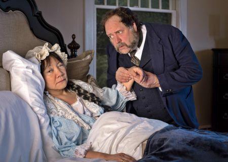 "Aya Hashiguchi Clark as Madame Saint-Pe and Eric Ray Anderson as General Saint-Pe in Dukesbay's ""The Waltz of the Toreadors."""
