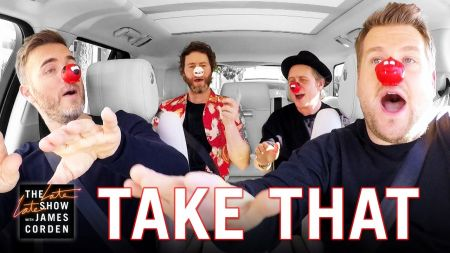 Watch: James Corden and Take That Crush Classic Hits in Carpool Karaoke Red Nose Day 2017 Special Edition