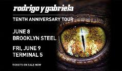 Rodrigo y Gabriela: Tenth Anniversary Tour tickets at Terminal 5 in New York
