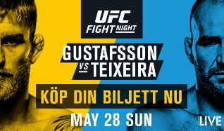 UFC Fight Night Stockholm - Gustafsson vs Teixeria tickets at ERICSSON GLOBE/Stockholm Live in Stockholm