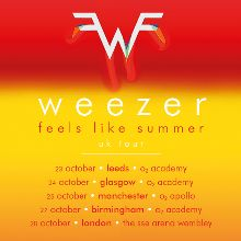 Weezer tickets at The SSE Arena, Wembley in London