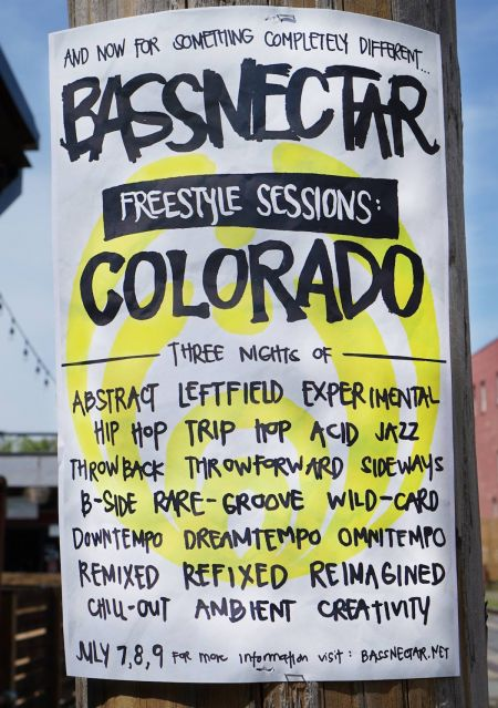 Bassnectar's The Freestyle Sessions Colorado will take place July 7-9 at 1stBank Center.