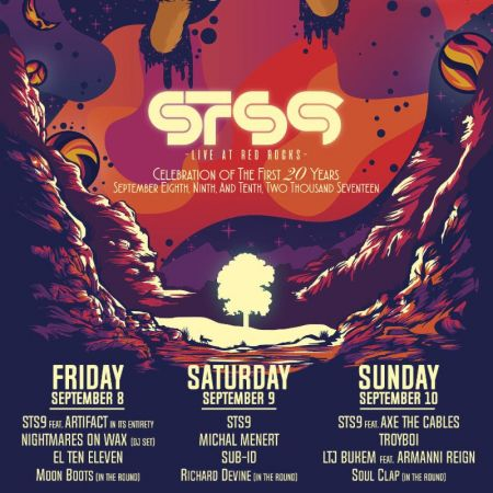 STS9 celebrates 20 with show at Red Rocks Sept. 8-10 with special guests.