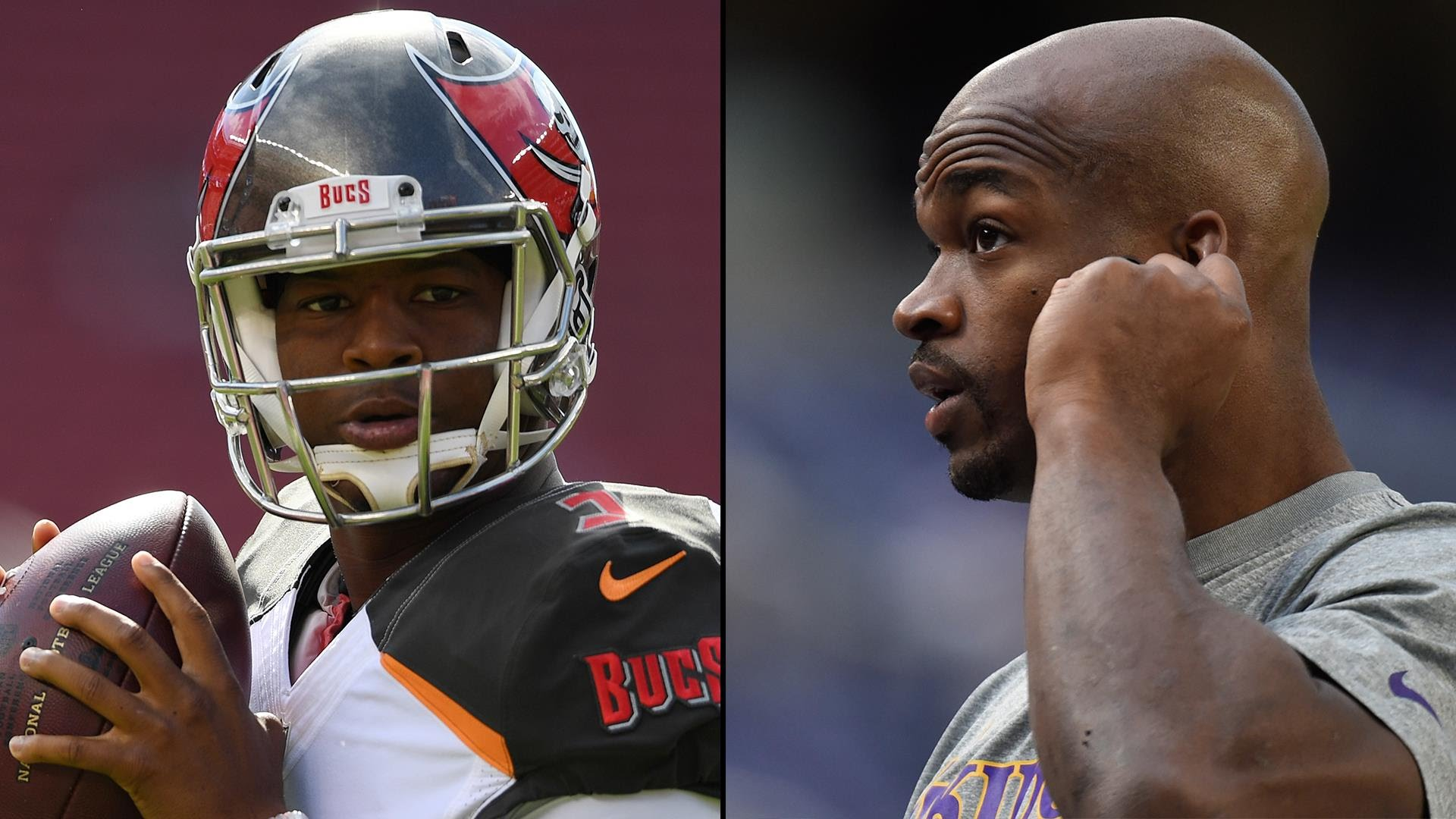 Bucs QB Jameis Winston 'absolutely' would like to play with Adrian Peterson