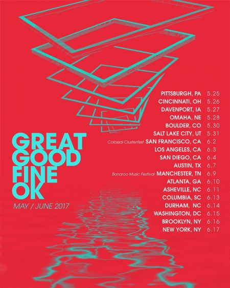 Synth-pop duo Great Good Fine Ok will be hitting the road and touring across America starting this May.