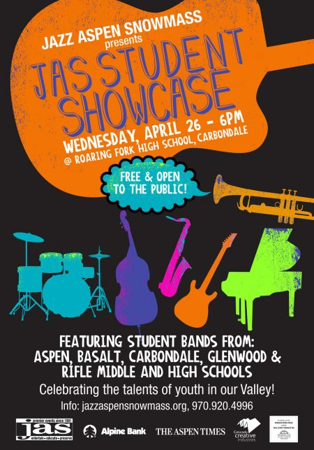 JAS Student Showcase takes place Wednesday, April 26 in Carbondale, CO.