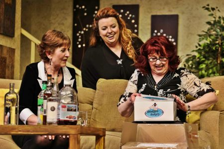 "Connie (Carol Richmond), Millie (Shelleigh-Mairi Ferguson) & Leona (Sharry O'Hare) in Tacoma Little Theatre's ""Exit Laughing"""
