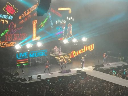 "Def Leppard performing ""Animal"" at the Xcel Energy Center in St. Paul on April 21, 2017"
