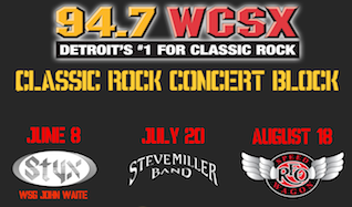Styx, Steve Miller Band, and REO Speedwagon tickets at Freedom Hill Amphitheatre in Sterling Heights