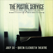 The Postal Service tickets at Queen Elizabeth Theatre in Vancouver