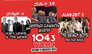 Huey Lewis and The News, Creedence Clearwater Revisited, and The Beach Boys tickets at Freedom Hill Amphitheatre in Sterling Heights