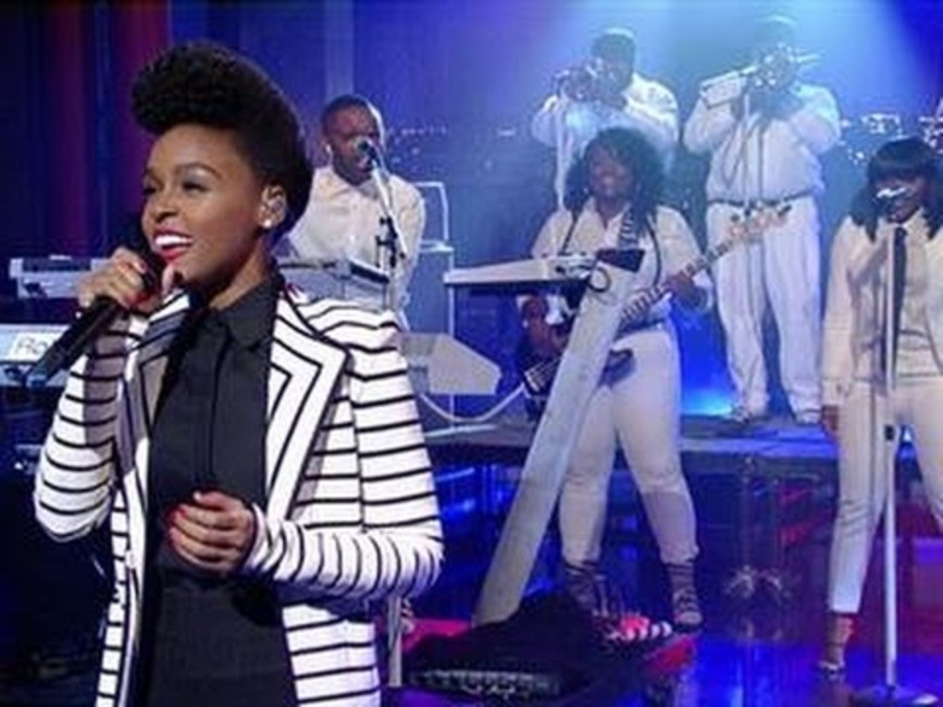 Janelle Monáe performs triumphant version of Bowie's 'Heroes' on 'Letterman'