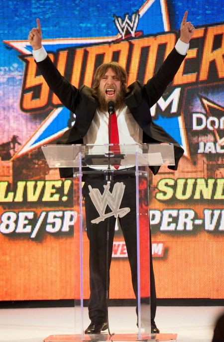 """Daniel Bryan's """"Yes! Yes! Yes!"""" gesture is so popular that fans started doing it in sports stadiums that have nothing to do with pro wrestli"""