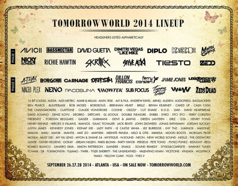Tomorrowworld Music Festival 2014 Lineup Released