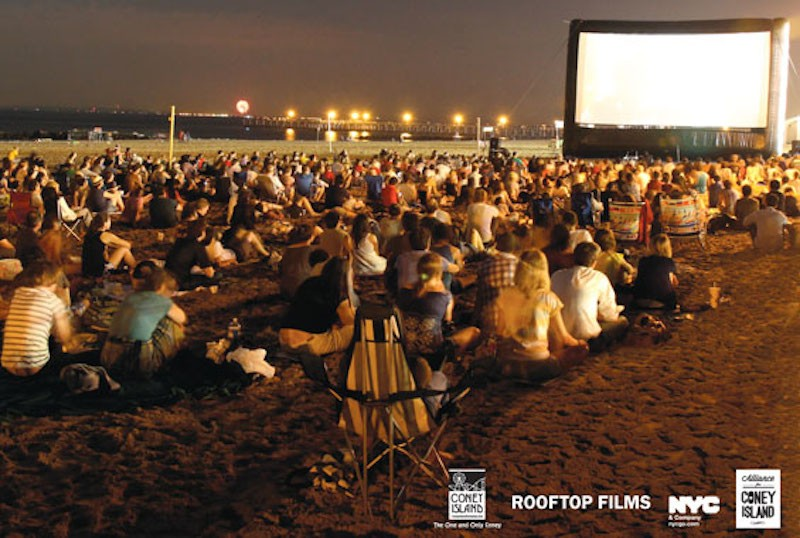 Coney Island becomes an outdoor movie theater for the summer
