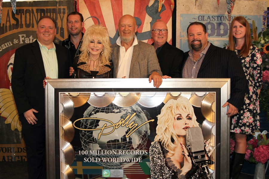 Dolly Parton honored for 100 million albums sold
