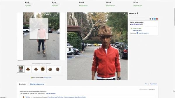 5f24ef02e43a0 Pharrell s Vivienne Westwood hat bought by Arby s for  44