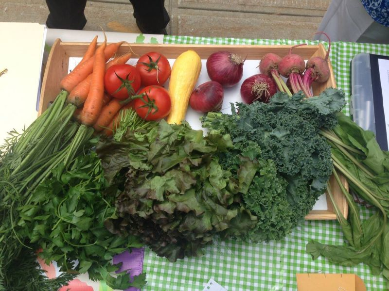 Shop for veggies in the dark at Thursday's night market