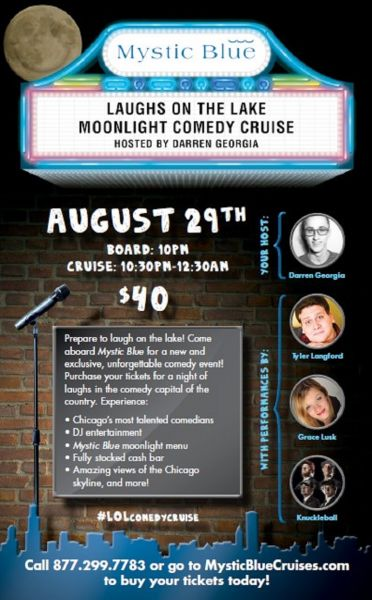 Mystic Blue presents 'Laughs on the Lake Moonlight Comedy Cruise'