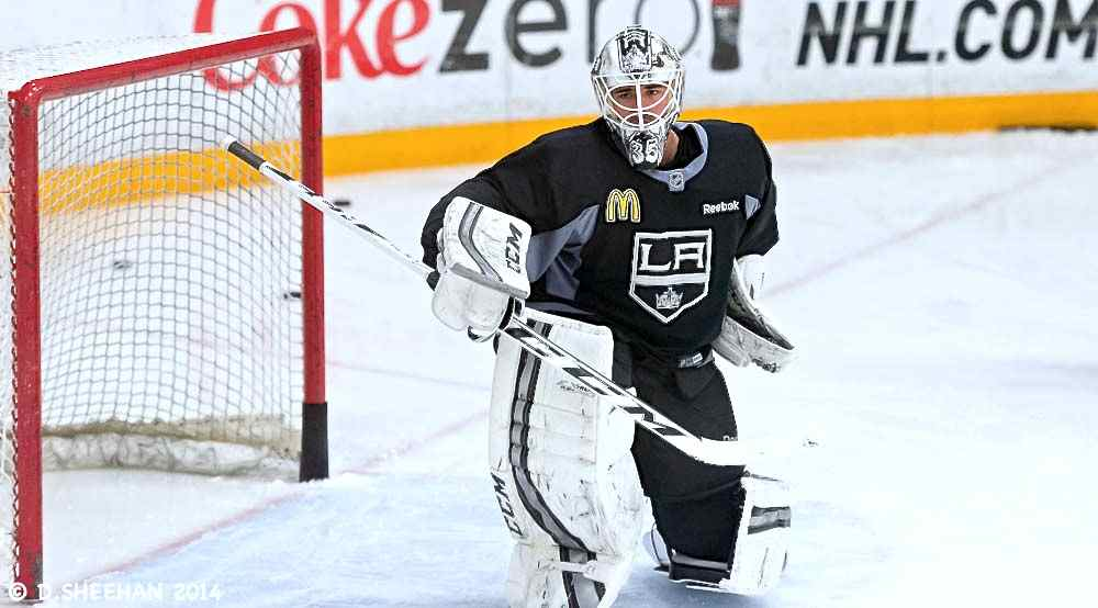 Kings sign goalie J.F. Berube to new contract
