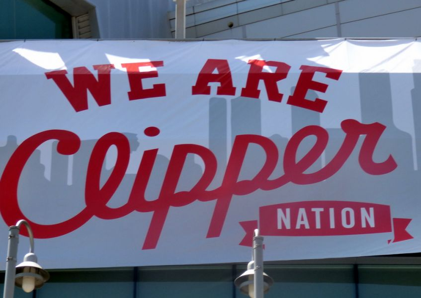 We Are Clipper Nation adorns the outside of STAPLES Center